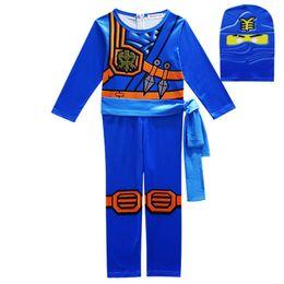 3t s'habiller en Ligne-Ninjago Costumes Cosplay Garçons Vêtements Ensembles Super-héros Cosplay Garçon Ninja Costume Filles Halloween Party Dress Up Streetwear Enfants Y1892807