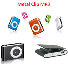 Wholesale usb memory mp3 player - Mini Metal Clip MP3 Player Sports Music Players with Micro SD TF Card Slot No Memory Card without Earphone USB Cable No LCD Screen