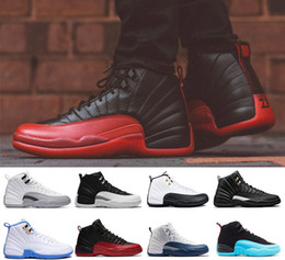 Wholesale Silver Ivory Shoes - With box 12 XII basketball shoes Flu Game the master GS Barons wolf grey Gym red taxi playoffs gamma french blue Sports sneaker