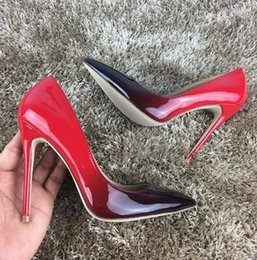 Wholesale Gray Dress Shoes Women - Womens Shoes High Heels Women Pumps 12CM Heels Shoes Woman Pumps Sexy Pointed Toe Stiletto High Heels Wedding Shoes