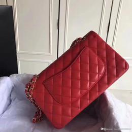 Wholesale Grey Chevron Bag - Free Shipping 2018 255 Original Genuine Leather Messenger Handbags Women Original Quality Brand Classic Shoulder Bags chevron bag