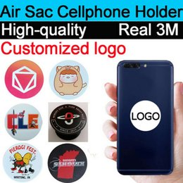 Wholesale Custom Iphone Color - Pop Up Cellphone Stand Universal Hot Socket Mobile Phone Holder For Smarphone Tablet Iphone X With Retail Package Free custom logo