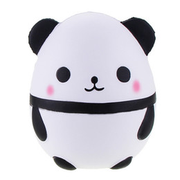 Wholesale Collection Eggs - Panda egg Squishy Toys Jumbo Cute Panda Kawaii Cream Scented Kids Toys Doll Gift Fun Collection Stress Relief Toy Decompression Toys Gifts