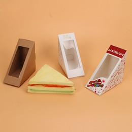 emballage de boîte à sandwich Promotion Boîte à sandwich avec l'emballage de sandwich de papier de Windows pour l'emballage jetable de papier de Restauran de restauration rapide