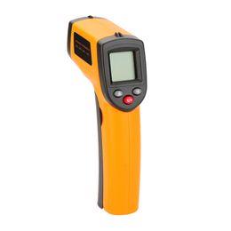 Pistola de termómetro digital online-GM320 Termómetro Infrarrojo IR Sin Contacto 12: 1 Digital Probador de Pistola de Temperatura Láser estacion meteorologica termometro digital