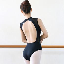 Deutschland Ballett Trikots Für Frauen Gymnastik Trikot Sexy Backless Schwarz Body Dance Trikot Für Ballerina Erwachsene Ballett Dancewear supplier black leotard adult Versorgung