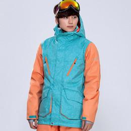 Argentina GSOU SNOW Brand Hombres chaqueta de esquí Chaqueta de snowboard a prueba de viento impermeable y transpirable deporte al aire libre desgaste masculino súper cálido ropa escudo supplier men s branded snow coat Suministro