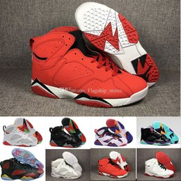 Wholesale Online French - [With Box] 2018 High Quality 7 French blue mens basketball shoes Raptor Hares Bordeaux Olympic 7s sports sneakers online size us8-13