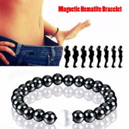 Wholesale Magnetic Jewelry Bracelet Health - Magnetic Hematite Round Beads Stretch Bracelet For Men and Women 55MM Anti-Fatigue Health Care Energy Bracelet Jewelry
