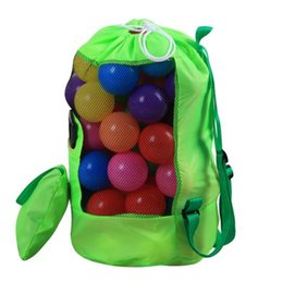 Wholesale free agent - Shell Beach Bag Green Portable Dredging Tool Storage Bag Large Backpack Outdoor Folding Children Bags Free Shopping