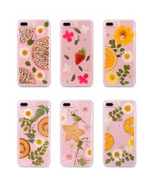 Wholesale unique fruit - Fruit Flower Soft TPU Case For Iphone X 10 8 Plus 7 Plus 6 6S Clear Silicone Floral Unique Coque Luxury Fashion Cell Phone Back Skin Cover
