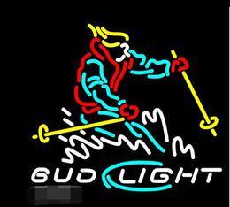 Fashion Hanscraft Bud Light Snow Skier Disegno cliente Beer Bar Pub Room Parete Display a parete Insegne al neon 24x20 !!! da