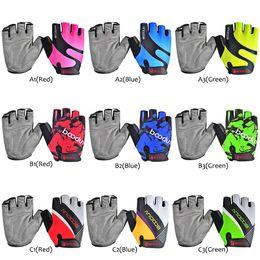 guantes de carretera Rebajas Guantes de ciclismo medio dedo a prueba de golpes transpirable MTB al aire libre bicicleta de carretera guantes de bicicleta guantes de deporte Mitten para niños hombres mujeres