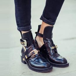 Teahoo Or Argent Boucle Cheville Bottes pour Femmes Mode Découper Gladiateur Bas Talon Chaussures Moto Bottes Printemps Automne ? partir de fabricateur