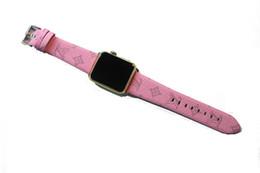 Argentina Correas de reloj de cuero de lujo de grado AAA para banda de reloj de Apple 42 mm 38 mm 40 mm 44 mm iwatch 1 2 3 bandas Correa de cuero pulsera deportiva marrón o rosa Suministro