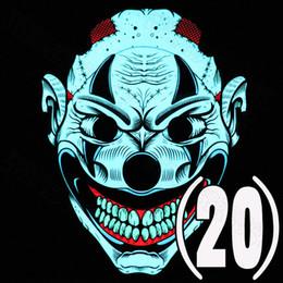 2019 nez gras 2019 Vente Chaude Cool Face Plein Contrôle Sonore Contrôle Voix LED Lumière Masque Brillant Cosplay Parti Masque