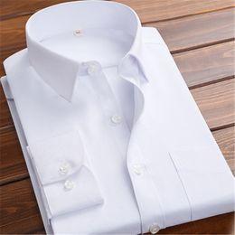 Wholesale Groom Groomsmen Shirts - 2018 Hot Sale White navy Blue pink blue Men Shirt Groom Tuxedo Groomsmen 7xl Wedding camisa masculina Formal Occasion Men Shirts