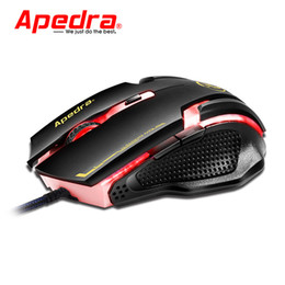 2020 mouse laser ottico Apedra A9 USB Mouse Porta Wired Gaming Mouse 3200DPI Laser Optical 6 Pulsanti Computer PC Gamer con scroll per Notebook Desktop
