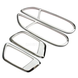 Wholesale Ford Handle - 4Pcs set Stainless Steel Inner Door Handle Stickers Fit for Ford Ecosport New Fiesta 2009 2010 2011 2012 2013 2014