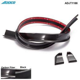Carbonio posteriore del spoiler online-Tansky - Black Carbon Fiber 4.9ft (150 cm / 1,5 m) 45MM corpo Bagagliaio posteriore del tetto spoiler Ala Trim Mold Sticker ADJT1188