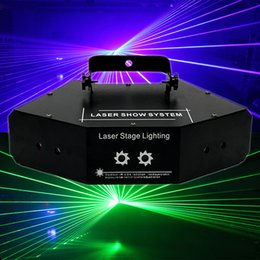ktv light Coupons - LED Stage Light Dj Equipment Red Green And Blue Six Eyes Scanning Laser Lights KTV Rooms Full Color Laser Lights Bar Stage Lighting