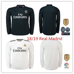 925743316df 2018 2019 Real madrid Long sleeve Asensio MARCELO soccer jersey 18 19 ISCO  AWAY BALE kroos ISCO BENZEMA UCL 13 cups football shirts jersey ucl on sale