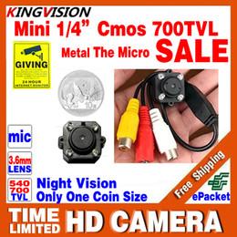 2019 video análogo ¡Muy pequeño! CMOS 700TVL Mini Audio Mic HD CCTV Cámara Analógica Color de seguridad Led Infrared Night Vision Video de vigilancia LowPrice rebajas video análogo