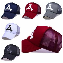 Wholesale Wholesale Netting - Snapbacks Mens Alabama Hats Reflective Design Caps USA College Letter A Logo Adjustable Triangulation Net Cap GGA279 30PCS