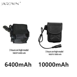 Wholesale Rechargeable Battery Packs For Bicycles - bicycle light Waterproof Battery Pack Li-ion Rechargeable 10000mAh or 6400mAh Storage 8.4 v Battery pack for Headlight Bike