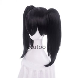 Wholesale black ponytail cosplay wig - Nico Yazawa From Lovelive Black anime Cosplay Wig With Chip Ponytails