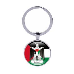 Держатель флага автомобиля онлайн-Герб брелок Палестина брелок Бахрейн Грузия Катар флаги стран Кер кольца женщины ювелирные изделия автомобиля брелок Оптовая