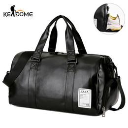 Gym Bag Leather Sports Bags Big MenTraining Tas for Shoes Lady Fitness Yoga  Travel Luggage Shoulder Black Sac De Sport XA512WD. Supplier  fwuyun 1d01846baefb2