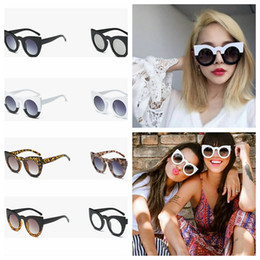 Wholesale Personality Glasses For Women - Big frame cat eye sunglasses for women fashion personality beach sunglass Cool EU US style sun glass for Holiday YYA1094