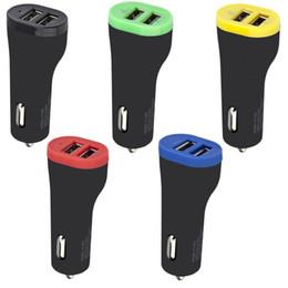 Séparateur adaptateur pour allume-voiture en Ligne-2.1A chargeur de voiture universel 2 ports allume-cigare Splitter chargeur adaptateur secteur pour iphone 6 7 8 samsung s7 s8 android téléphone gps