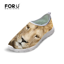 Wholesale clay owl - Cool Animal Lion Owl Print Casual Shoes Fashion Men Autumn Summer Leisure Walking Male Mesh Shoes Breathable Soft Flat Sapatos