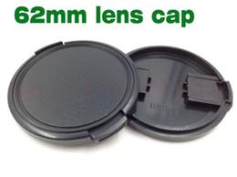 capuchons d'objectif de 62 mm Promotion 10pcs 62mm Snap-On Lens Camera Front Cap Couverture sans corde pour filtre 62mm DSLR Protector
