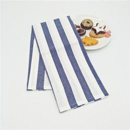 Wholesale Blue Wedding Napkins - 3pcs Blue Square Table Napkins Cloth Handkerchief for Wedding Party Restaurant Dinner Napkin Table Decoration