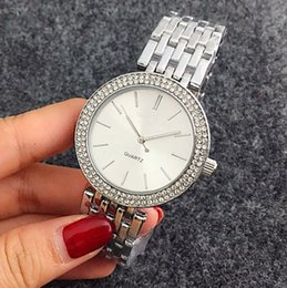 Wholesale Pink Designer Watches Women - Luxury brand unique Relogio woman clock Silver watch simple Designer Casual ladies Dress white bracelet Stainless steel watch gift watches