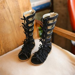 673d856e2e86 2018 New High-top Summer boots fashion Roman girls sandals kids gladiator  sandals toddler baby sandals girls high quality shoes