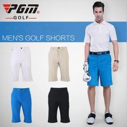 ropa de talla grande masculina Rebajas PGM Men Golf Shorts Verano de secado rápido del deporte de longitud de la rodilla Shorts para hombres transpirable Hombre Golf tamaño Plus ropa