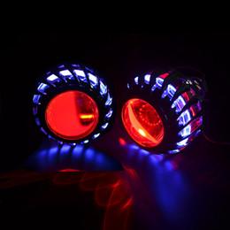 скрыть Скидка 2.5-дюймовый мини-би ксенон hid проектор объектив LED день работает Белый ангел глаза H1 H4 H7 комплект для сборки автомобилей DRL новая версия