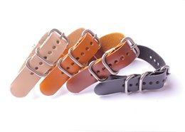 Wholesale Italian Oil - 18~24 mm Italian plant tanned crazy horse oil wax cowhide genuine leather Watch band Watch band strap