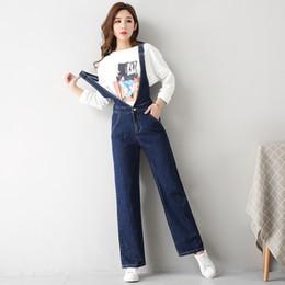 93027850234 Women Loose Denim Jumpsuits Casual Korean Preppy straight Romper Ladies  Slim Denim Overalls Playsuit