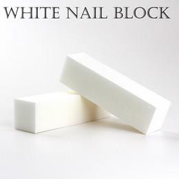 bloques de uñas blancas Rebajas 60 UNIDS buena calidad venta al por mayor de Blanqueo de Pulido Lijado Archivos Bloque de Pedicura Cuidado de Manicura Nail file Buffer for SALON