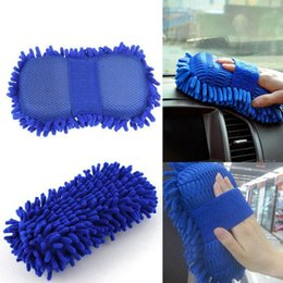 Wholesale Auto Washers - Car Washer Cleaning Gloves Car Sponge Wash Microfiber Auto Window Brush Car Washing Cleaning Gloves OOA4599