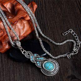 Wholesale Cheap Tibetan Jewelry - SHUANGR Antique Fashion Jewelry Tibetan Resin Chain Necklace&Pendants Water Drop Shaped Cheap Price Wholesale