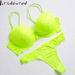 38d front closure bras Promo Codes - High quality Deep V Sexy Plus size Push up Bra set Floral Embroidery Lace Women Underwear set Bra and Panties 34 36 38 40 42 BCD
