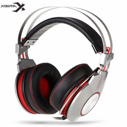 Wholesale Usb Laptop Headset - Xiberia K5 PC Gamer Gaming Headphones with Microphone Led Over-ear Headband Computer Heavy Bass USB Gaming Headset For Laptop