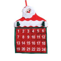 Весело офисные подарки онлайн-Новые рождественские календари Ткань Время обратного отсчета Календарь Fun Рождество Санта Клаус Crafts для дома и офиса украшения Новогодние подарки