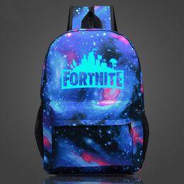 sacs à dos Promotion Fortnite Night Sacs à dos lumineux Sacs d'école Fortnite pour garçons Filles Fortnite Impression épaules Sac à dos pour enfants jouets pour enfants